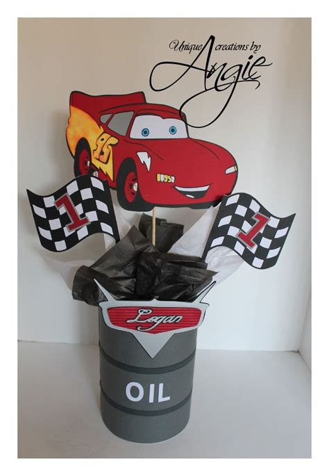 Mcqueen Decoration For Party Scrappin Memories Disney Disney Cars Centerpiece Ideas