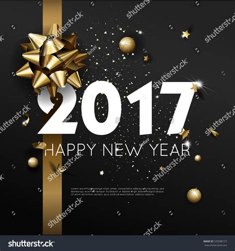 happy new year 2017 card template happy new year 2017 greeting card image vectorielle