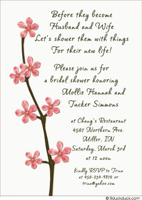 Sle Wedding Invitation Sayings by Bridal Shower Invitations Sayings Wedding Invitation Ideas