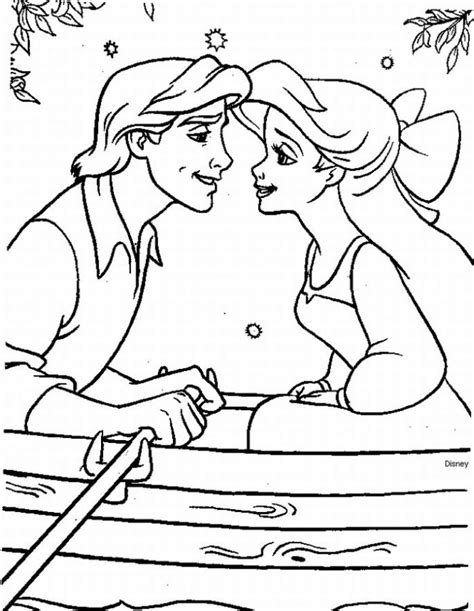 coloring pages ariel and eric free coloring pages of prince eric