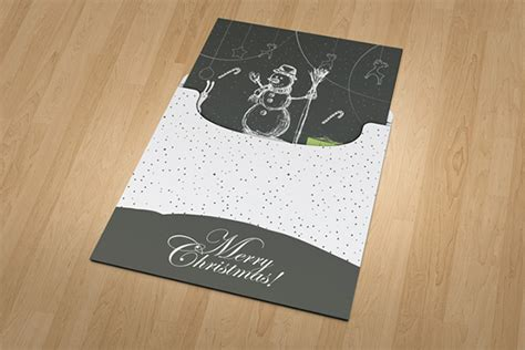 Realistic Greeting Card Template Psd by Invitation And Greeting Card Mockup V2 On Behance