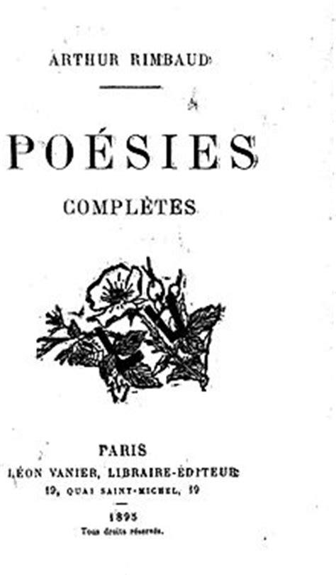 Poesías (Rimbaud) - Wikipedia, la enciclopedia libre