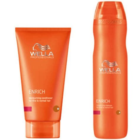 hair products for fine wiry hair wella professionals enrich volumising duo for fine to