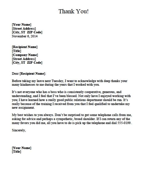 Thank You Letter Template To Employer exles of thank you letters to employers letters