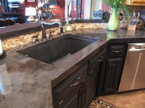 concrete kitchen countertops diy concrete kitchen countertops