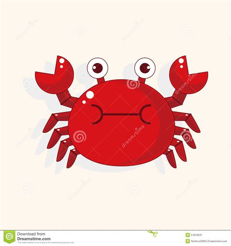 cartoon themes vector crab cartoon theme elements vector eps stock vector