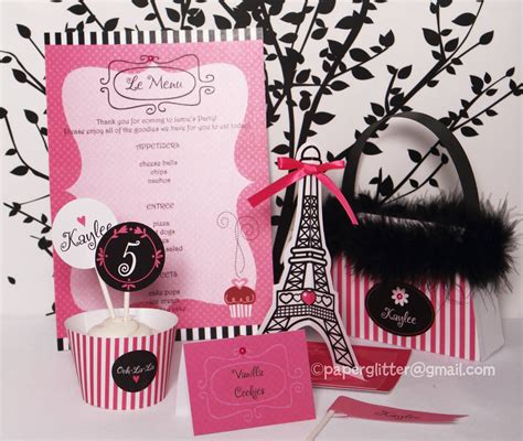 Paris Themed Party Kit | hot pink paris party kit