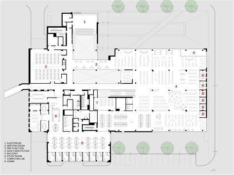 public library floor plan gallery of cedar rapids public library opn architects 13