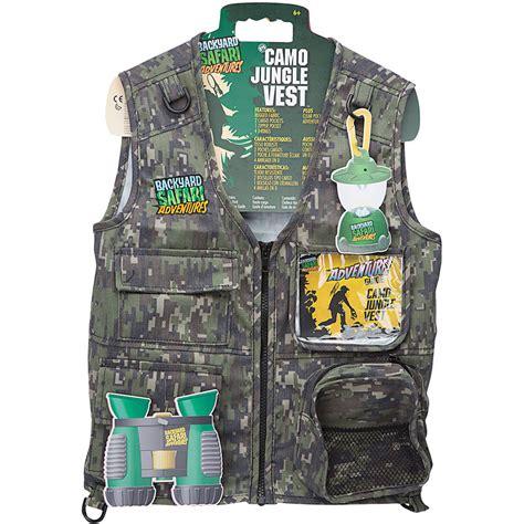 backyard safari cargo vest jungle camo