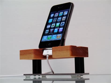 Handmade Iphone - techstands handmade iphone dock gadgetsin
