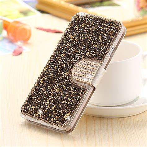 Luxury 3d Phone For Iphone 7plus luxury bling leather cards wallet flip cover