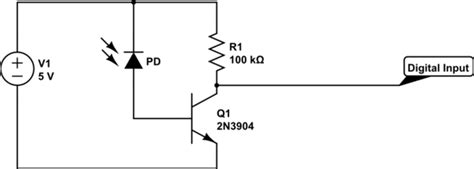 why photodiode works in bias arduino photodiode turn digital input pin into 1 with light input electrical