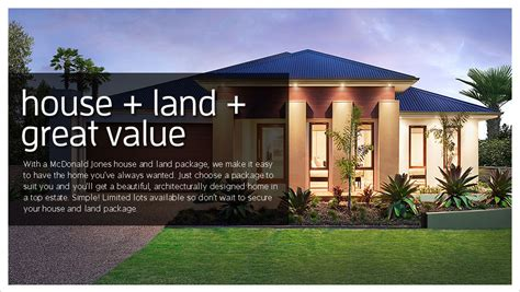 home and land packages canberra act mcdonald jones homes