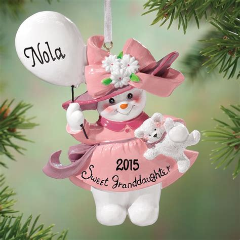 personalized granddaughter ornament