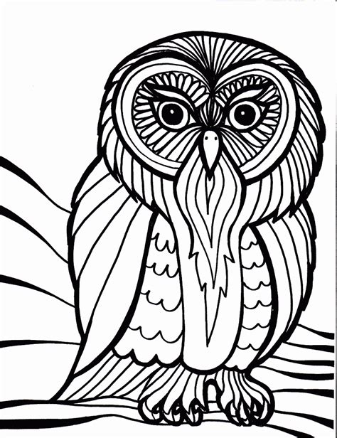 abstract owl coloring pages for pinterest