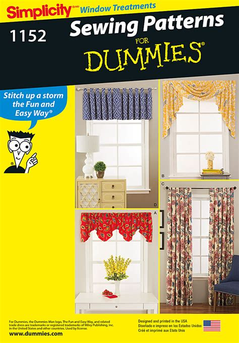 pattern review best patterns 2015 simplicity 1152 window treatments