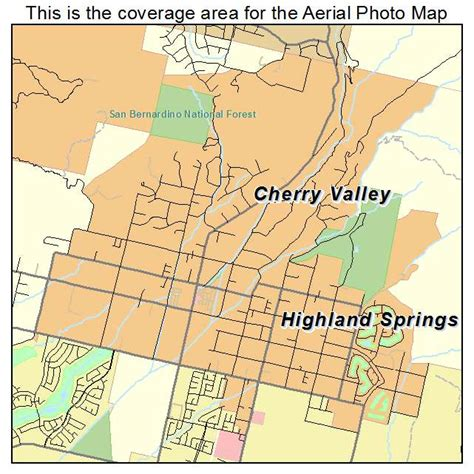 california map valley aerial photography map of cherry valley ca california