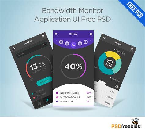 app design psd free download bandwidth monitor application ui free psd download