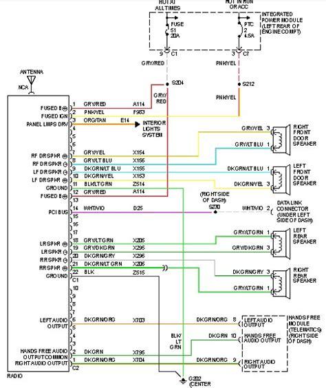 dodge ram  radio wiring diagram wiring