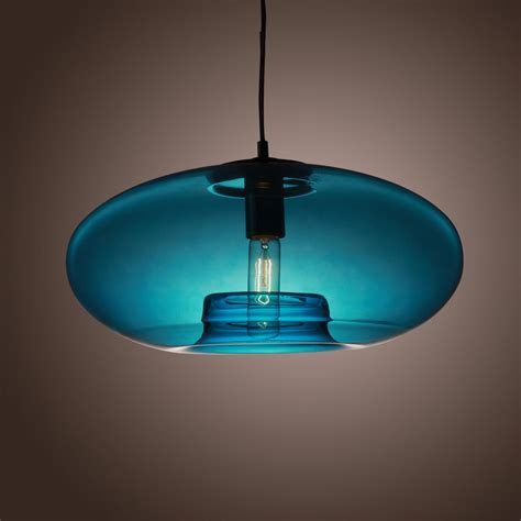 Glass Pendant Light Fixtures Ceiling Hanging Blue Glass Pendant L Design Light Fixture Us Shipping Ebay