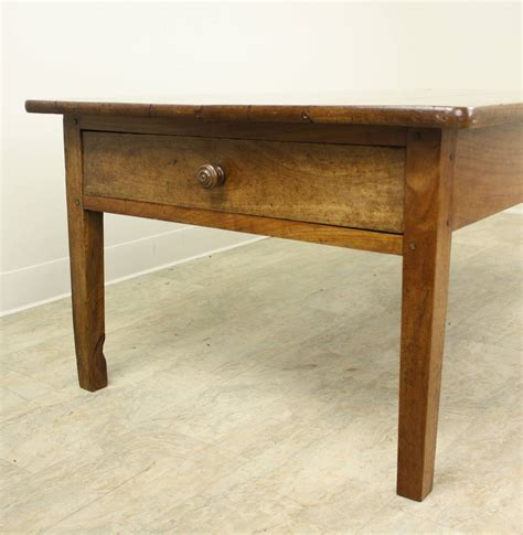 antique cherry two drawer coffee table for sale at