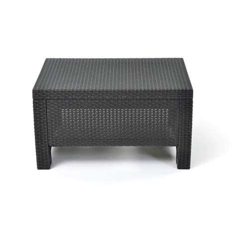 black outdoor coffee table contemporary outdoor coffee table in durable black plastic