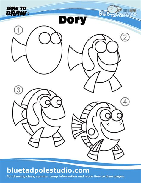 how to draw a dory boat blue tadpole studio how to draw