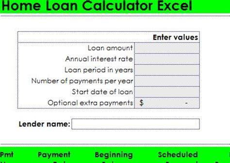 housing loan calculator excel home loan calculator excel home loan calculator