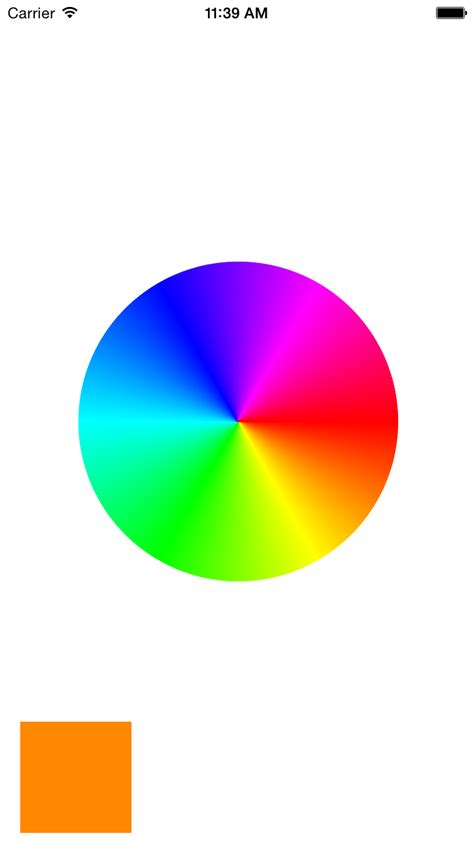 color wheel picker iphone color wheel or color picker in ios stack overflow