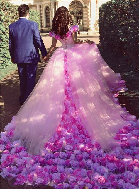 Flower Dress Wedding by Flower Wedding Dresses Pink Wedding Dress Gown