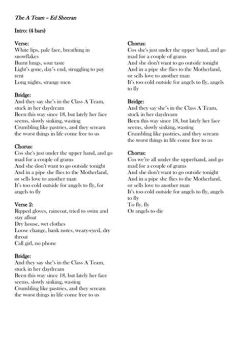 ed sheeran a team lyrics review writing ed sheeran lego house by rachelbunce