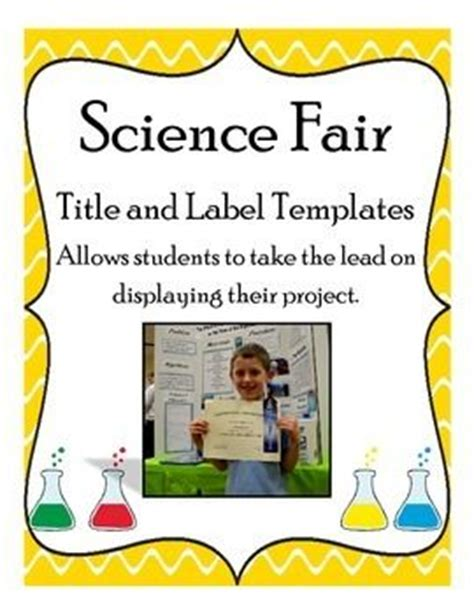 science fair labels templates science fair title and label templates other colors and student