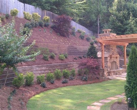Steep Hillside Landscaping Ideas Steep Like Ours Landscape Ideas For Hillside Backyard