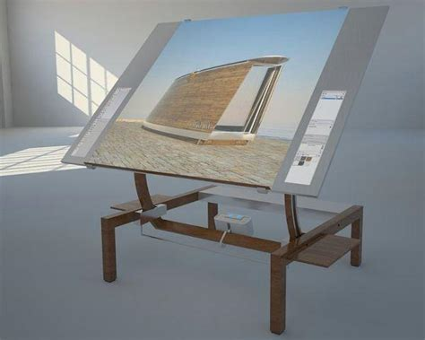How To Design A Desk by A Concept Interactive Drafting Desk For Architectures And Designers