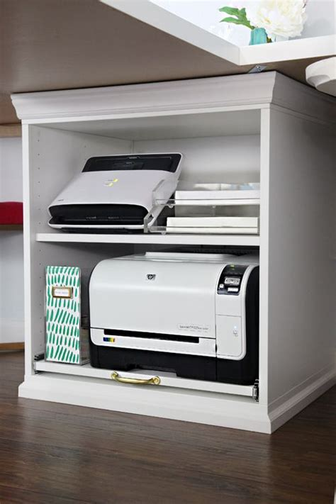desk with printer storage 25 best ideas about printer storage on pinterest small