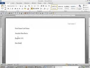 Essay Header Format by Mla Format Heading