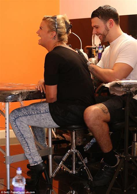 tattoo studio jay hutton kerry katona new husband george kay get identical tattoos