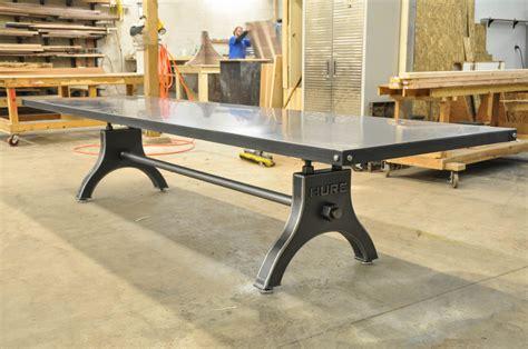12 foot long desk 12 vintage industrial steel dining vintage