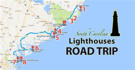 texas lighthouses map the lighthouse road trip in south carolina that is amazingly beautiful