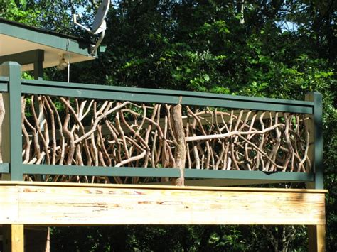 deck railing ideas branches make the most awesome deck railing deck railing