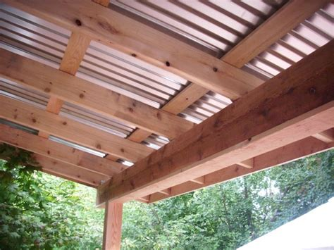 corrugated patio cover corrugated deck cover deck