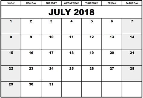 Kalender 2018 Med Helligdager Juli 2018 Kalender Norge Helligdager Utskriftsvennlig Mal