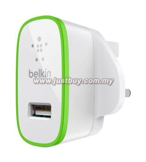 Belkin Home Usb Charger 2 1a Black buy belkin dual usb 2 1a home charger adapter malaysia