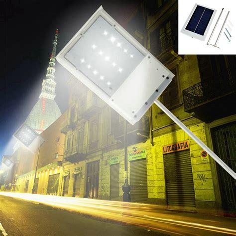 solar powered street l led solar powered motion sensor light outdoor solar led