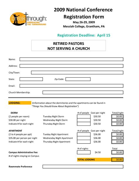 registration template conference registration form template www pixshark