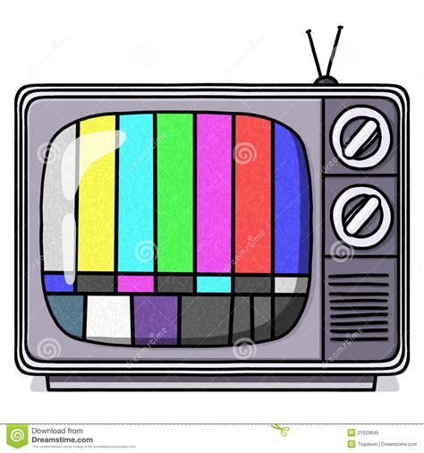 tv test pattern stock images royalty free images vintage tv set illustration with test pattern stock