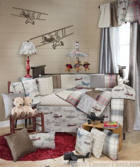 Vintage Boy Crib Bedding Fly By Baby Boy Crib Bedding Collection With Vintage Airplanes Baby Boy Bedding Pinterest