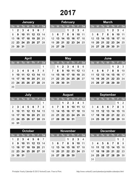 vertex printable yearly calendar download the printable 2017 yearly calendar