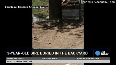 Buried In The Backyard by Missing Child S Found Buried In Arizona Yard