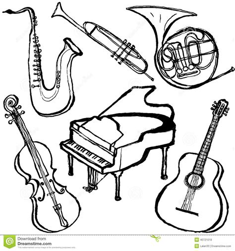 coloring pages instruments of the orchestra jazz band coloring pages
